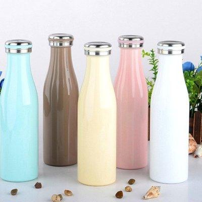 保溫瓶【KCW051】日本熱銷不鏽鋼牛奶保溫瓶500ml 大容量 牛奶瓶 保溫瓶 情人節禮物 對杯 水瓶-收納女王