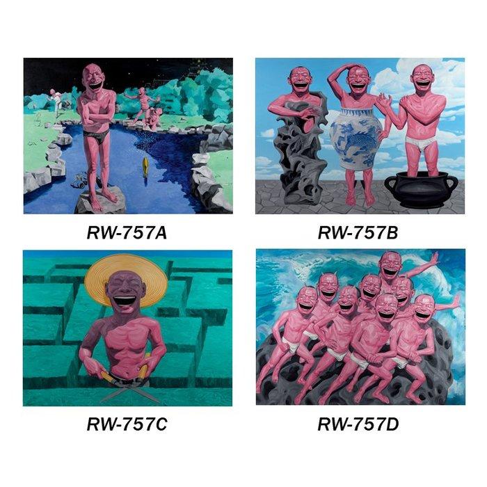 新中式人物裝飾畫芯畫布高清微噴打印畫心酒店賓館餐廳壁畫(4款可選)