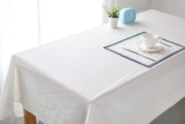 【#020 純白無圖】多種尺寸的桌巾◈桌布◈圓桌巾◈方桌巾◈天然綿麻桌巾◈ 宅優物◈100*135cm◈