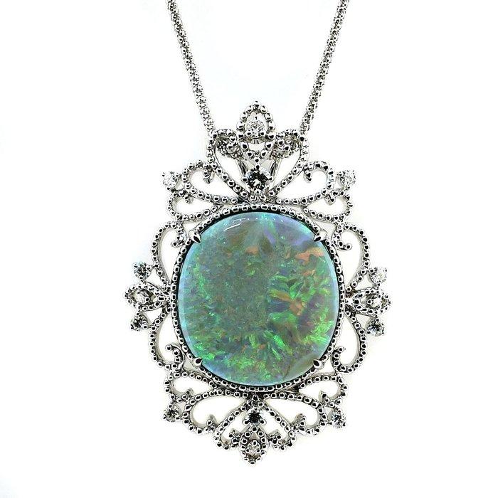 【JHT 金宏總珠寶/GIA鑽石專賣】26.52ct天然蛋白石造型鍊/材質:18K(JB41-B29)