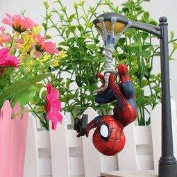 【紫色風鈴】蜘蛛人 SpiderMan 蜘蛛俠路燈倒吊相機場景版英雄歸來盒裝擺件 港版