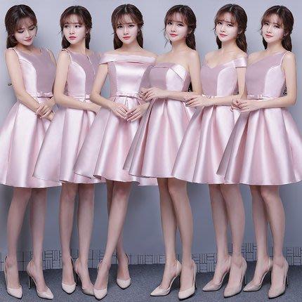 【曼妮婚紗禮服】3件免郵~結婚三色多款伴娘禮服 修身顯瘦公主婚紗小禮服 CA099