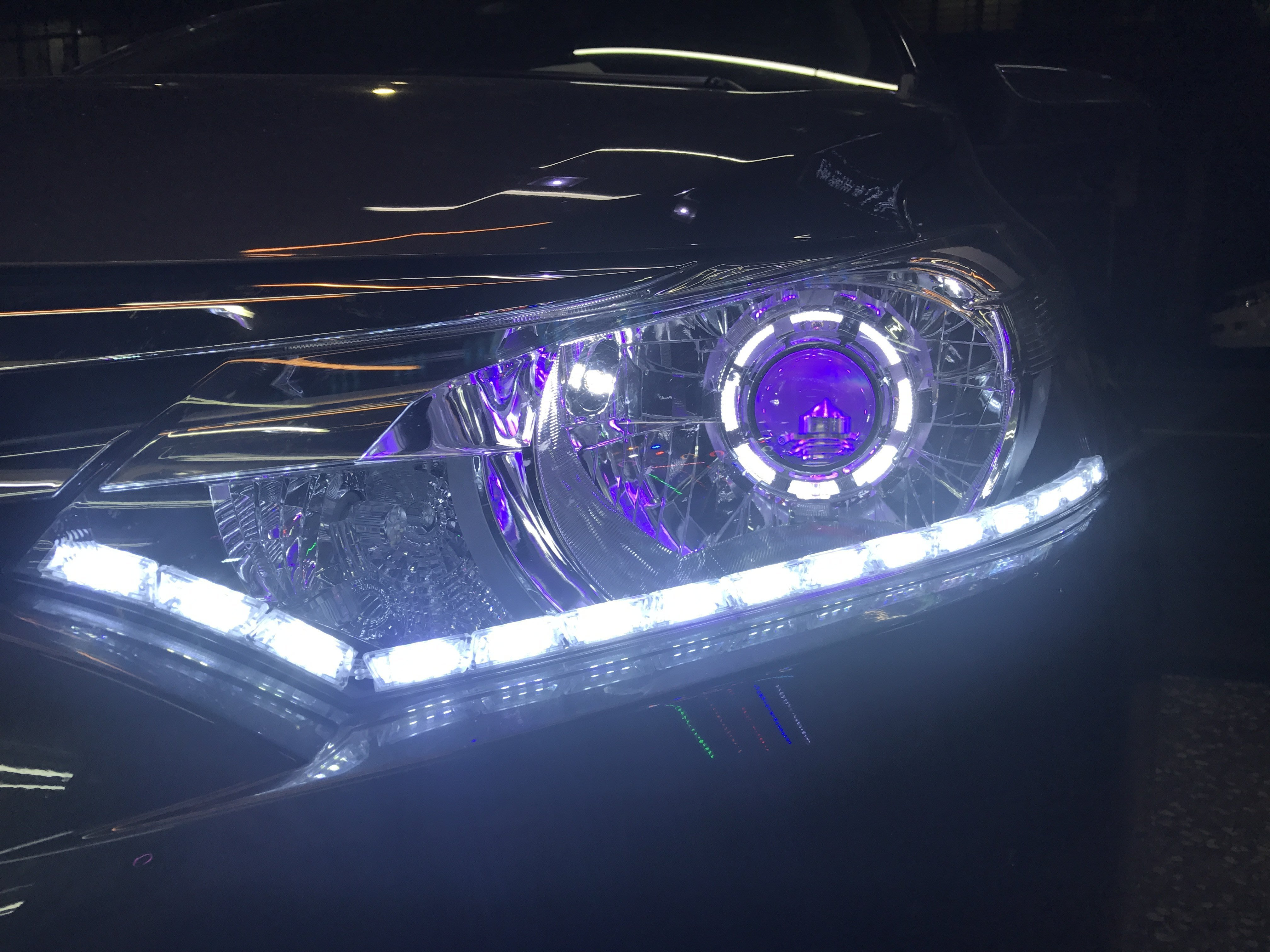 JK極光LED光導U6淚眼DRL日行燈VIOS八代VIITARA IX35大燈WISH sienta rx350
