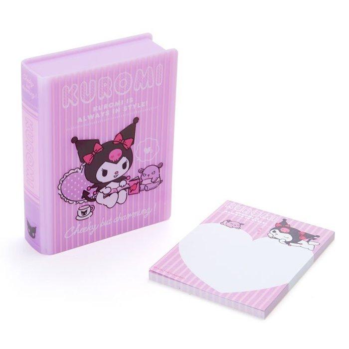 41+現貨不必等 挑戰Y拍最低價 書型便條紙 附 盒子 庫洛米 KU 日本限定 收納盒 小日尼三 批發零售