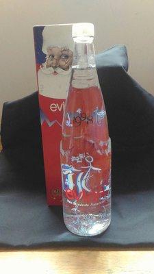 愛維養evian紀念瓶(1998聖誕)