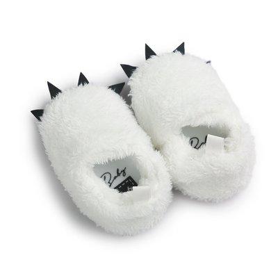 森林寶貝屋~白色怪獸爪子鞋~學步鞋~保...