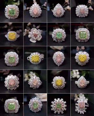 各種彩鑽珠寶首飾925純銀包白金戒指微鑲主鑽3-4克拉高碳鑽石肉眼看是真鑽 超低價鉑金質感高碳仿真鑽石莫桑鑽寶特價優惠
