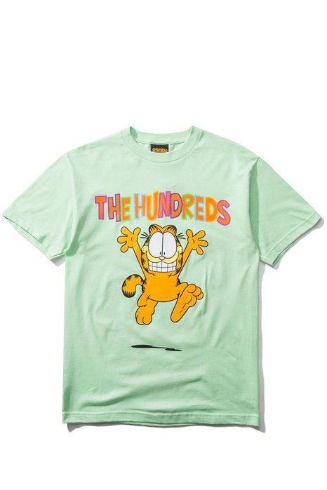『 HOPES 』THE HUNDREDS X GARFIELD RUN T-SHIRT - MINT 薄荷綠