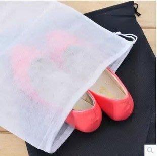 晶華屋--加厚款 旅行抽繩束口防潮防塵鞋套 不織布鞋子收納袋 防塵袋 鞋子收納袋 衣物收納袋