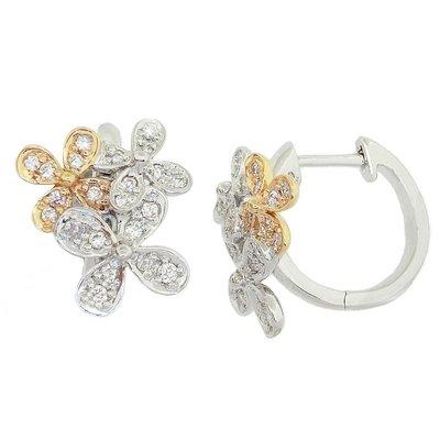 【JHT 金宏總珠寶/GIA鑽石專賣】0.52ct天然鑽石耳環/材質:18K(JB41-D04)