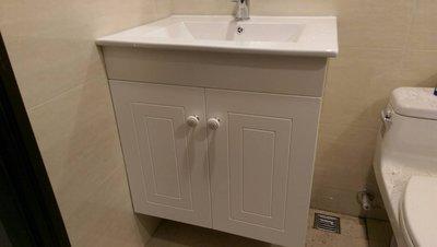 造型白色鋼烤 浴櫃 方形盆 薄盆 //成舍衛浴// 台中 工廠