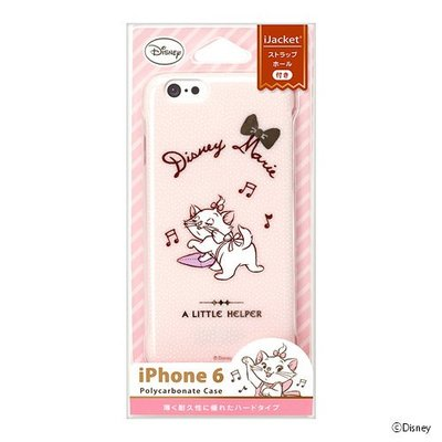 尼德斯Nydus~* 日本正版 迪士尼  Marie Cat 瑪莉貓 硬殼 手機殼 粉紅款 4.7吋 iPhone6