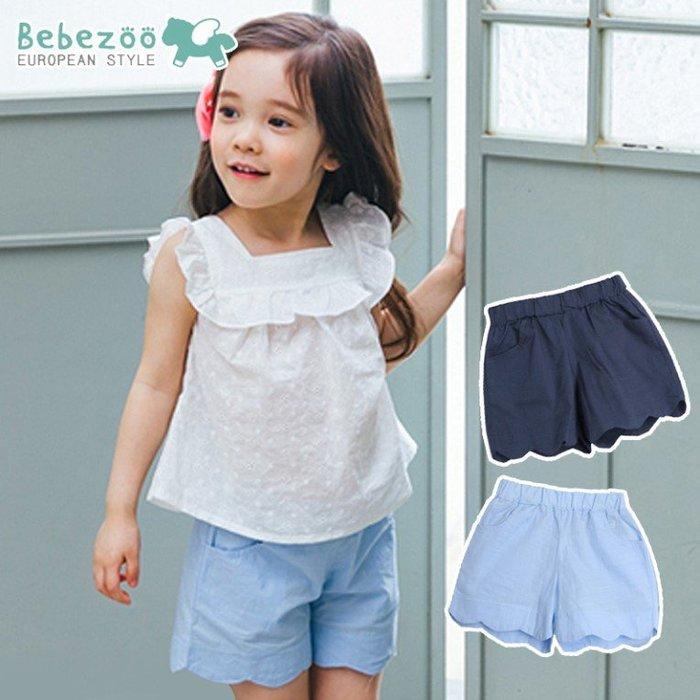 【睫衣童裝】韓國bebezoo夏款女童波浪邊短褲/女童短褲 (90-120)
