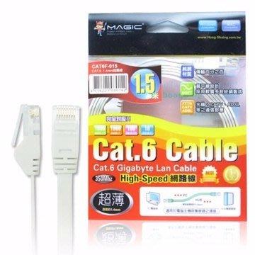 【開心驛站】MAGIC 鴻像Cat.6 超薄 Hight-Speed 網路線 - 1.5M