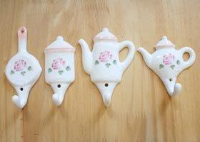 日本Many 玫瑰造型掛勾--咖啡壺