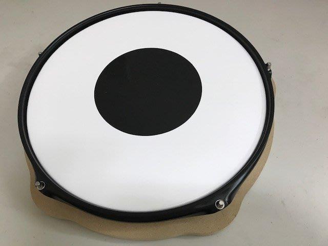 筌曜樂器(F1028)全新 12吋 仿真鼓 實木啞鼓墊 練習鼓 架子鼓 打擊板 爵士鼓 練習墊(可以調整 鼓皮)