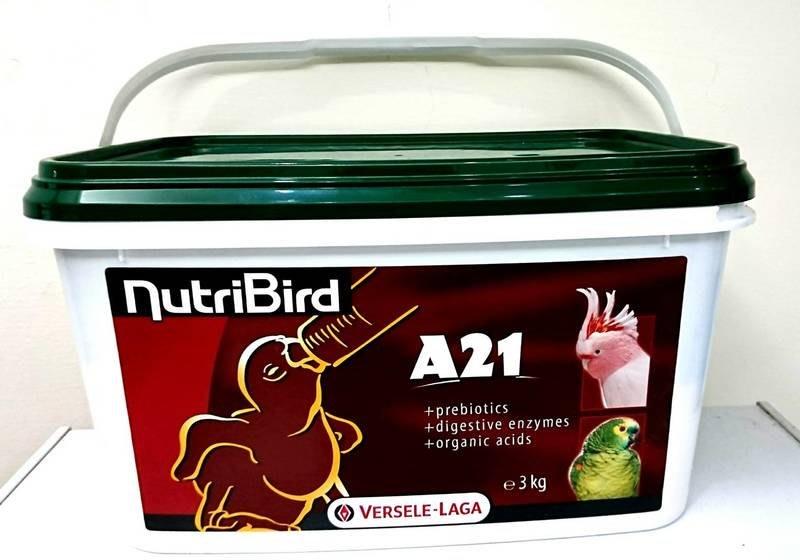 凡賽爾A21奶粉《A21綠蓋營養素/鳥奶粉3kg》小型鸚鵡、雀科幼雛鳥適用