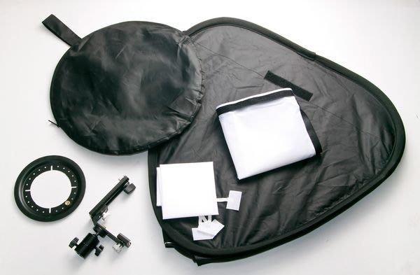 呈現攝影-專業折疊式 無影罩 50cmx50cm 外接閃光燈專用,含外接閃光燈架(傘座/關結)