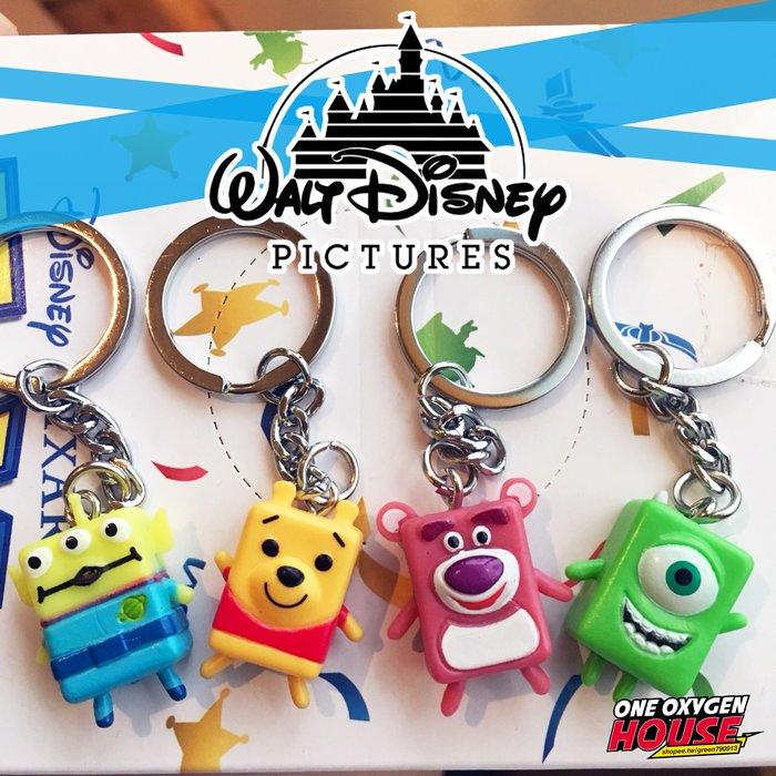 日本 Disney 迪士尼 三眼怪 熊抱哥 維尼小熊 大眼仔 方塊 鑰匙圈 味覺糖 玩具總動員 吊飾 公仔 玩具 Q版