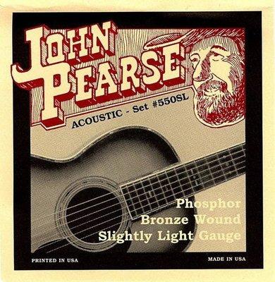 ☆ 唐尼樂器︵☆美國製 John Pearse 木吉他/民謠吉他 #550SL (11-50)磷青銅弦