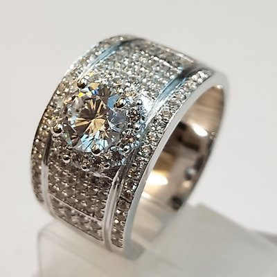 滿天星美國FO莫桑鑽戒指1克拉超白D色...
