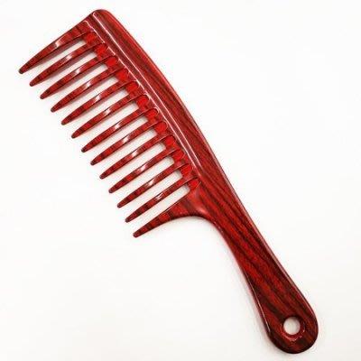 台灣製造 菜刀梳 關刀梳 扁梳 仿木紋 (大) CK-525 顏色隨機出貨 不能挑色【小7美妝】