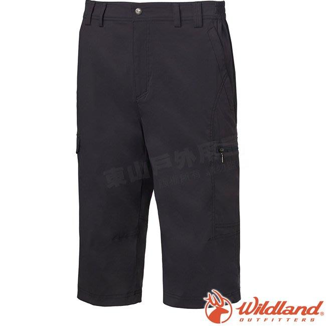 Wildland 荒野 0A61372-92中灰 男彈性透氣抗UV七分褲 彈性延展/輕薄透氣/吸濕快乾/休閒褲