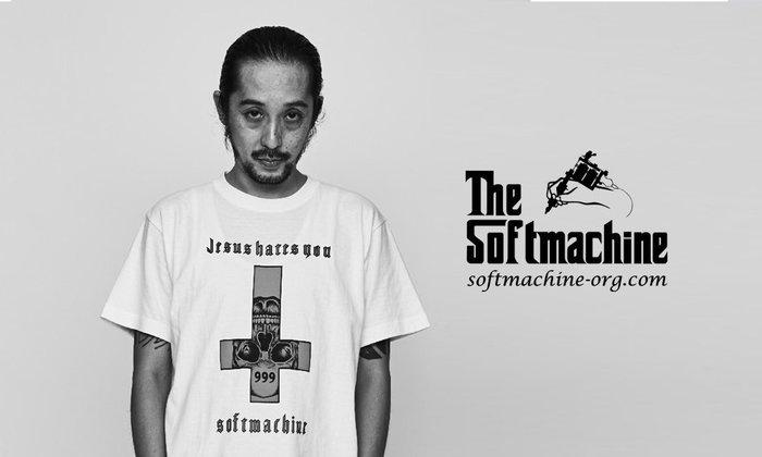 GOODFORIT / 日本品牌Softmachine HATE T-Shirt刺青倒十字反基督主題上衣/兩色