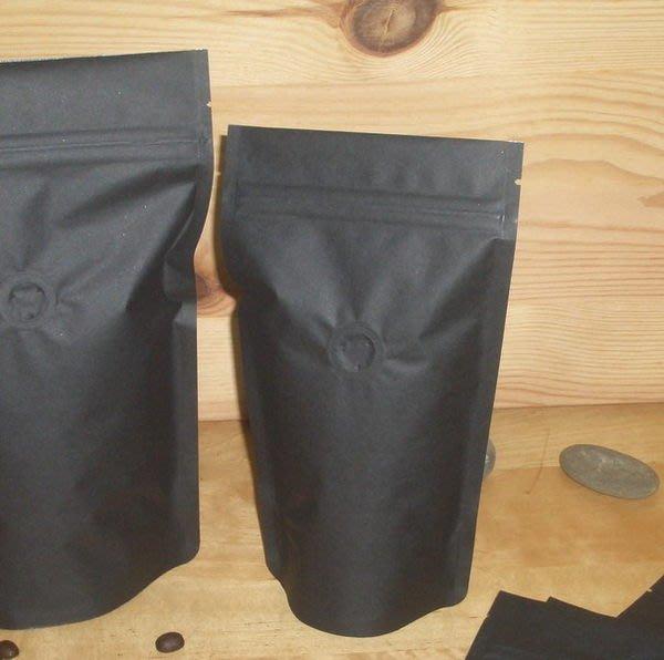 CZ103新鮮色_1/4磅(4兩)_黑色夾鍊站立袋_含氣閥_專業咖啡袋_花茶_果茶袋 (100入)CandyMan