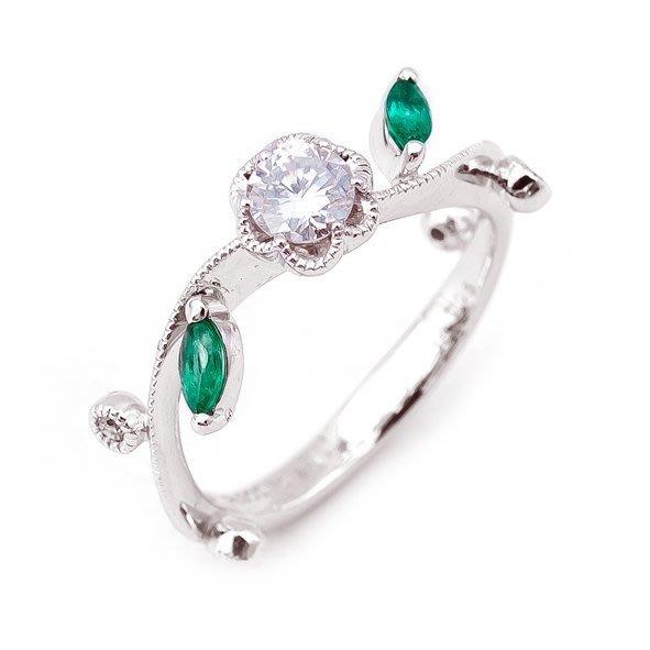 【JHT金宏總珠寶/GIA鑽石專賣】天然祖母綠鑽石戒指/材質:PT900 (JB21-E3)
