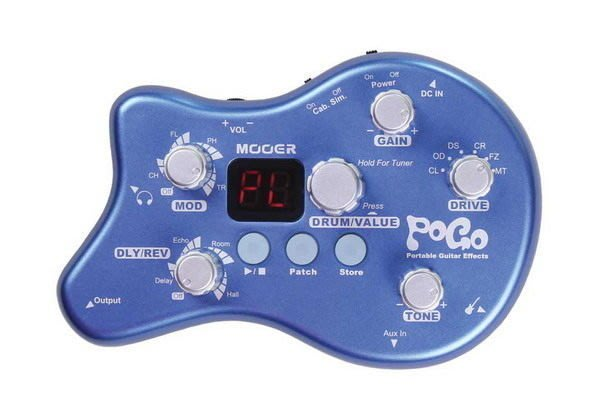 ☆ 唐尼樂器︵☆ Mooer Pogo 隨身型木吉他/電吉他/電貝斯 Bass 綜合效果器/內建鼓機節奏器