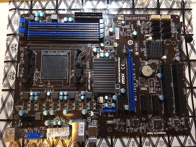 [電腦叢林資訊]-二手MSI 微星 760GA-P43 (FX) AM3+腳位 支援DDR3  附檔板