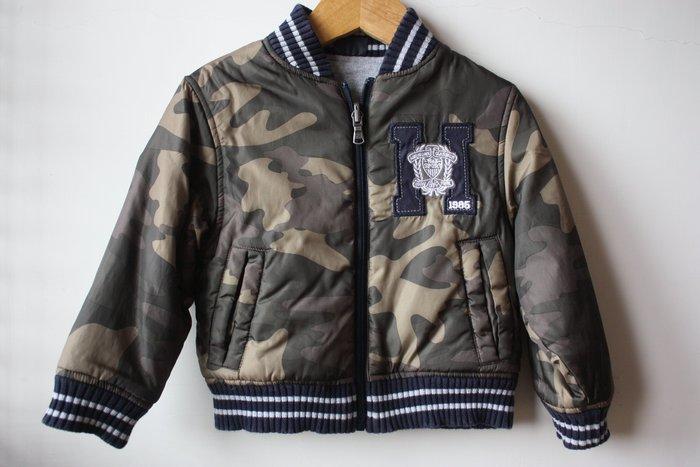 現貨【TOMMY HILFIGER】全新正品 超實穿 雙面可穿 鋪棉外套 | 綠迷彩防潑水 + 灰色棒球外套【3T】