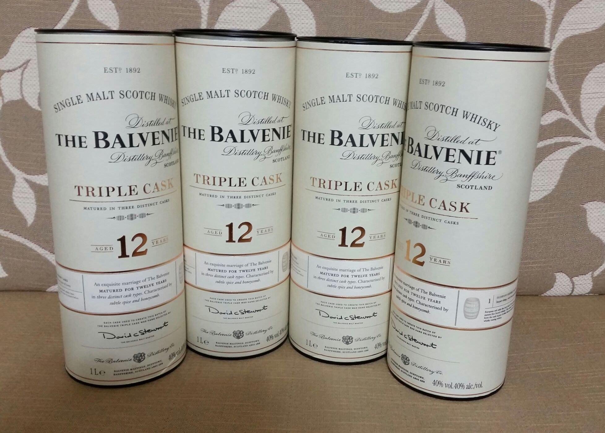 全新蘇格蘭 百富12年單一桶單一純麥威士忌-原裝空酒瓶紙筒,完美主義者請勿下標。