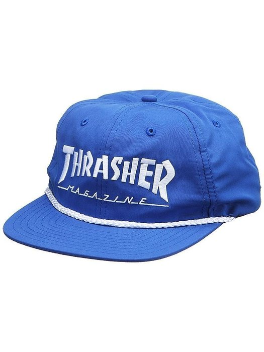 《Nightmare 》Thrasher Magazine Rope Snapback Hat - Blue