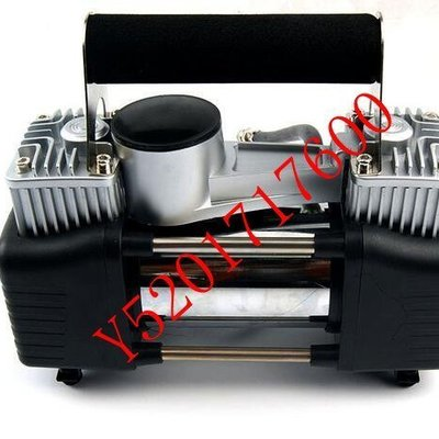 大功率金屬雙缸汽車打氣泵 車載充氣泵 車用充氣機 純金屬