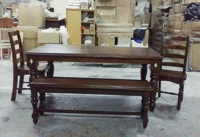 美生活館--全新美式鄉村復古刷舊破壞式處理 六尺餐桌 工作桌 寫字桌 會議桌也可客訂改刷舊白或雙色-另有餐椅長凳可搭配