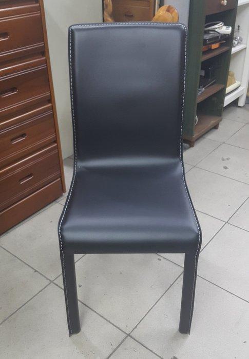 樂居二手家具 家電 全新中古傢具賣場 EA0122AJC 全新馬鞍皮餐椅*洽談椅 電腦椅 書桌椅 辦公椅 各式桌椅拍賣