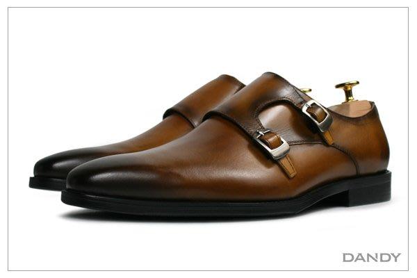 ├ DANDY ┤真皮燻舊紳士皮鞋 ‧ 2018新款手工仿舊棕色HX286-533