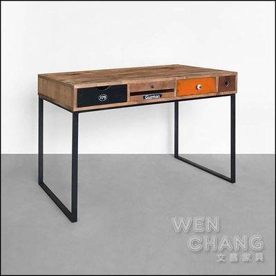 訂製品   LOFT復古工業 古茲曼書桌 CU063 *文昌家具*