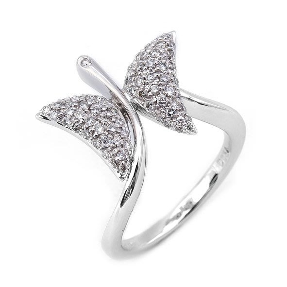 【JHT 金宏總珠寶/GIA鑽石專賣】0.54ct天然鑽石造型戒/材質:18K(D000193)