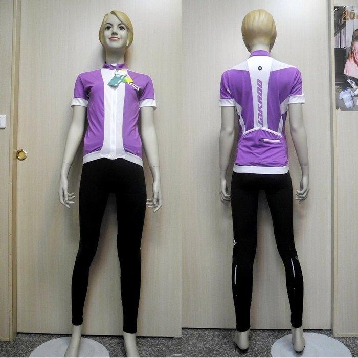 「喜樂屋戶外」JAKROO捷酷 歐洲品牌 女款短袖車衣 吸濕排汗 彈性布料 透氣 自行車衣