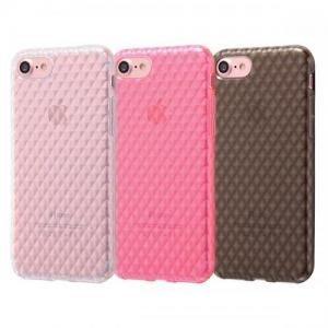 尼德斯Nydus 日本正版 格紋款 透明 玫瑰金 曜石黑 TPU 軟殼 手機殼 5.5吋 iPhone7 Plus