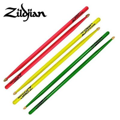 ☆ 唐尼樂器︵☆美國製 Zildjian 5A ACORN 胡桃木爵士鼓鼓棒(粉紅色/黃色/綠色)