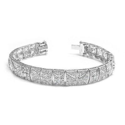【JHT 金宏總珠寶/GIA鑽石專賣】3.41ct天然鑽石手鍊/材質:18K(JB42-A28)