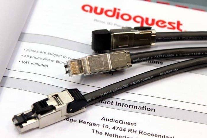 【音逸音響】高速網路傳輸線》美國 audioquest Cat700 Carbon(切售1米含兩只專業頭)