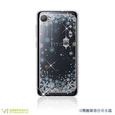 【WT 威騰國際】WT® HTC Desire 12 施華洛世奇水晶 彩繪空壓殼 軟殼 -【映雪】