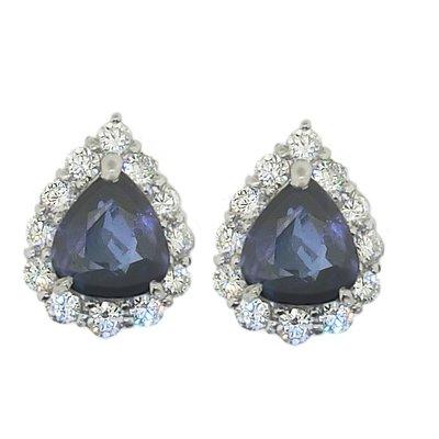 【JHT金宏總珠寶/GIA鑽石專賣】4.97ct天然藍寶鑽石耳環/材質:PT900(JB41-A12)