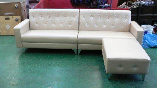 宏品中古傢俱館 庫存家具拍賣 A101*凱斯大型L型皮沙發*客廳桌椅/訂製各式布沙發全新2手價