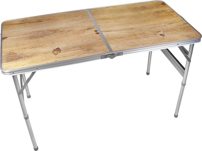 [兄弟牌戶外休閒傢俱] 120x60cm攜帶式折疊鋁桌~露營休閒折疊桌椅~鋁合金不怕日曬雨淋~直購免運費